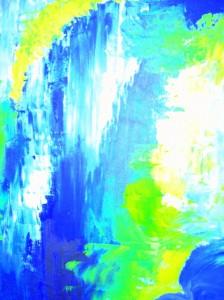 Peinture, huile abstraite, Valerie Jean, Illustration