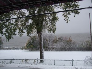paysage de neige, quebec