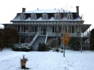 maison, bois, Quebec
