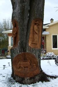 bois sculpté, Quebec