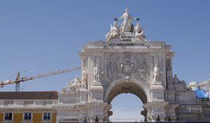 Arco praça commercio-Lisbonne
