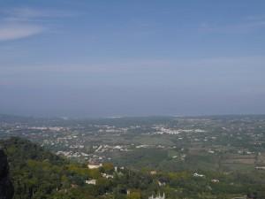 Vue castel dos Maures, sintra, portugal