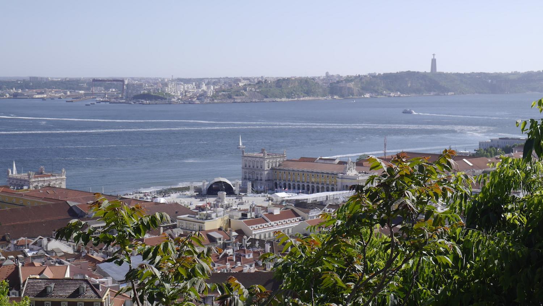 vue panoramiqe castel san jorge-Lisbonne